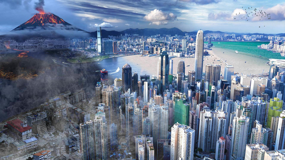 Is this Hong Kong?   Program Used:  Adobe Photoshop The exploration of combining different elements into one landscape resulted in an enchanting depiction of Hong Kong.