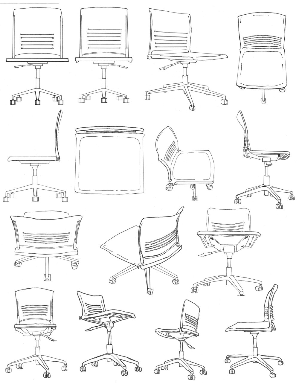 OFFICE CHAIR SKETCHES