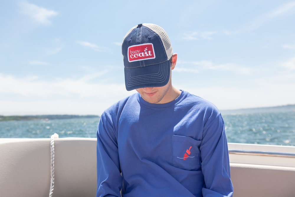 Maine Trucker Cap and Long Sleeve T-shirt. Maine made.