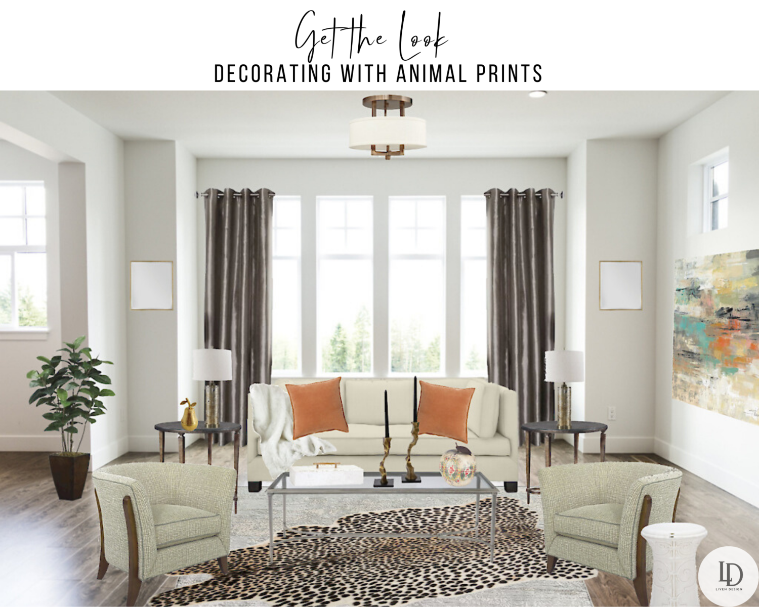 Get the Home Decor Look: Animal Print Living Room — LIVEN DESIGN
