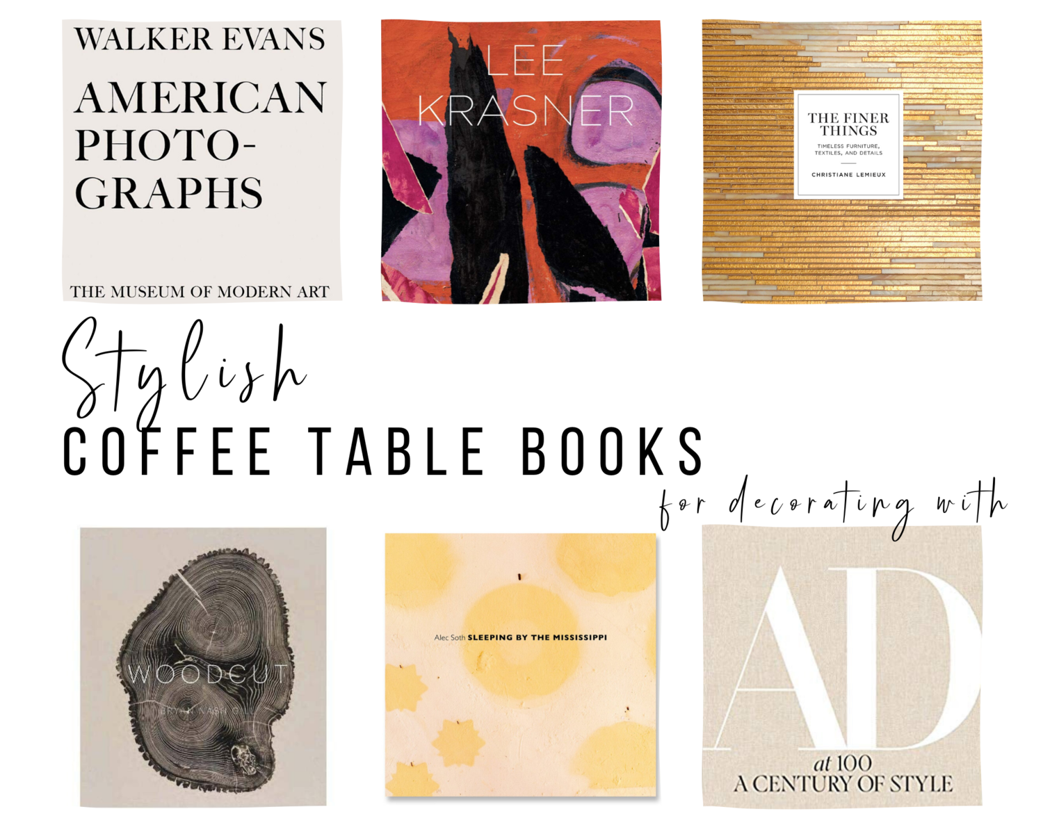Favorite Stylish Coffee Table Books Perfect For Decorating With