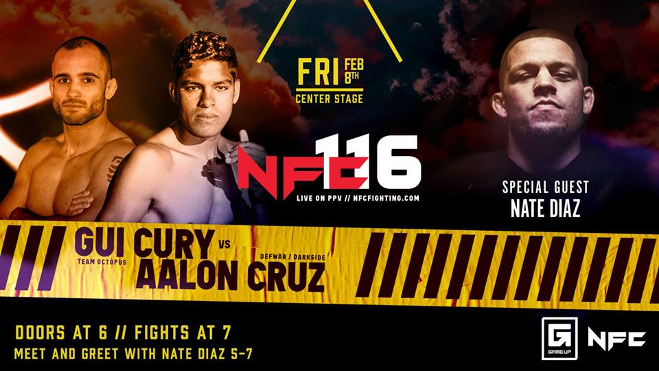 NFC # 116 Friday, February 8Center Stage ATL - Doors at 6 pm and fights at 7 pmCenter Stage is an all ages venue