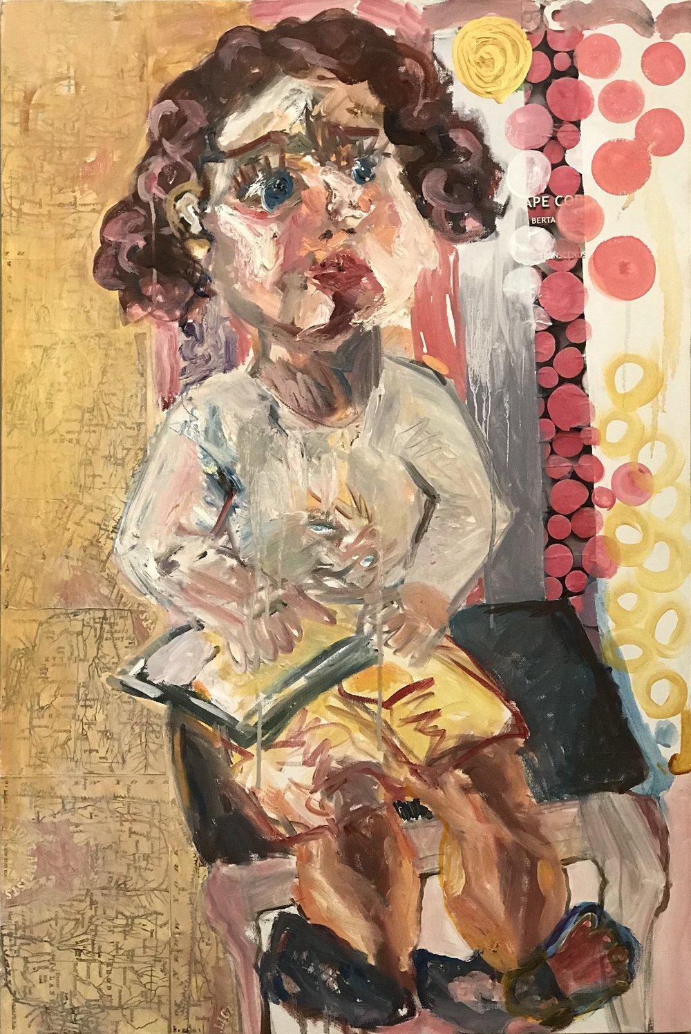"""Portrait of Daniela - 24'"""" x 36"""""""