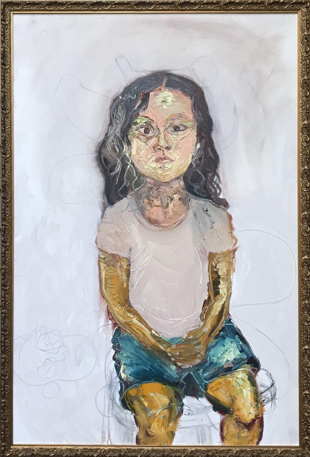 "Portrait of Rose - 24"" x 36"""