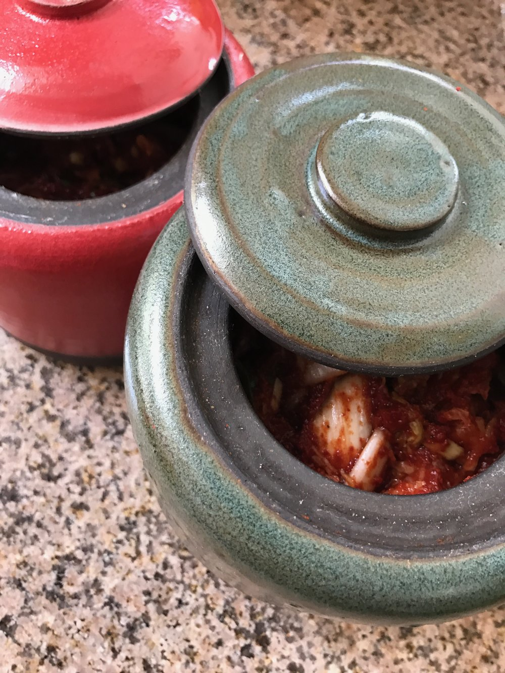 Kimchee in Onggi made by Robert Siegel