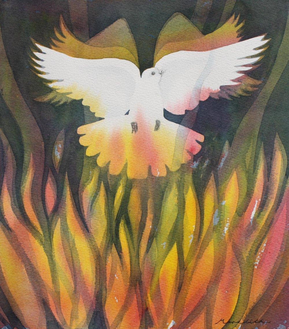 Renew  (2013). Watercolour on paper. 250mm x 283mm