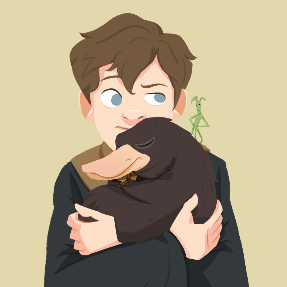 Young Newt Scamander - For Day 26 - 28, I'm so hyped for this upcoming Fantastic Beasts Movie, So I decided to wrap all those mystic creatures/pets with young Newt and his best paws.