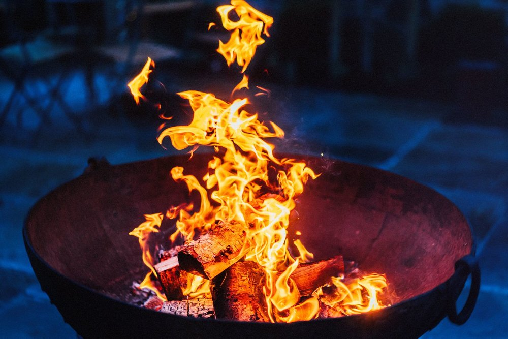 Fire pits at Thorpe Garden