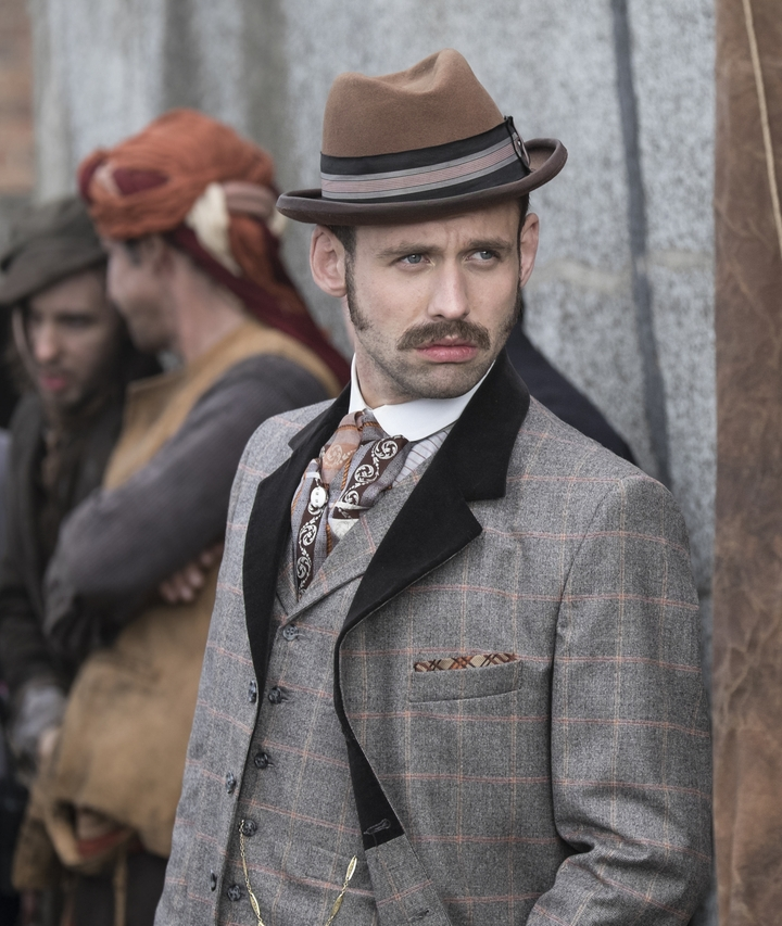 BENJAMIN O'MAHONY IN RIPPER STREET - Benjamin O'Mahony plays regular character Frank Thatcher in multiple seasons of 'Ripper Street' for Amazon Prime/BBC America.