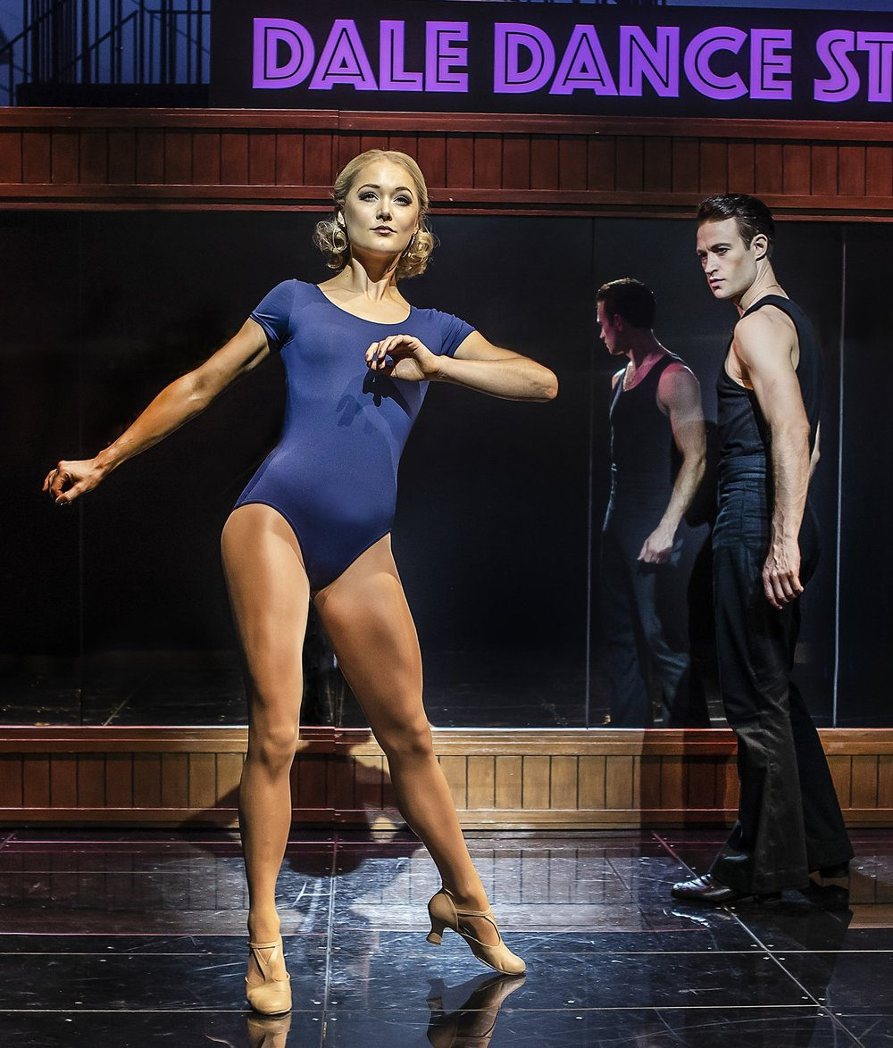 KATE PARR IN SATURDAY NIGHT FEVER - Kate Parr played the leading role of Stephanie in the No 1 tour of Saturday Night Fever, having previously been in Follies at The National Theatre.