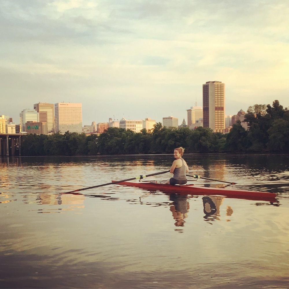 I currently row for the Virginia Boat Club on their competitive masters rowing team in Richmond, VA.