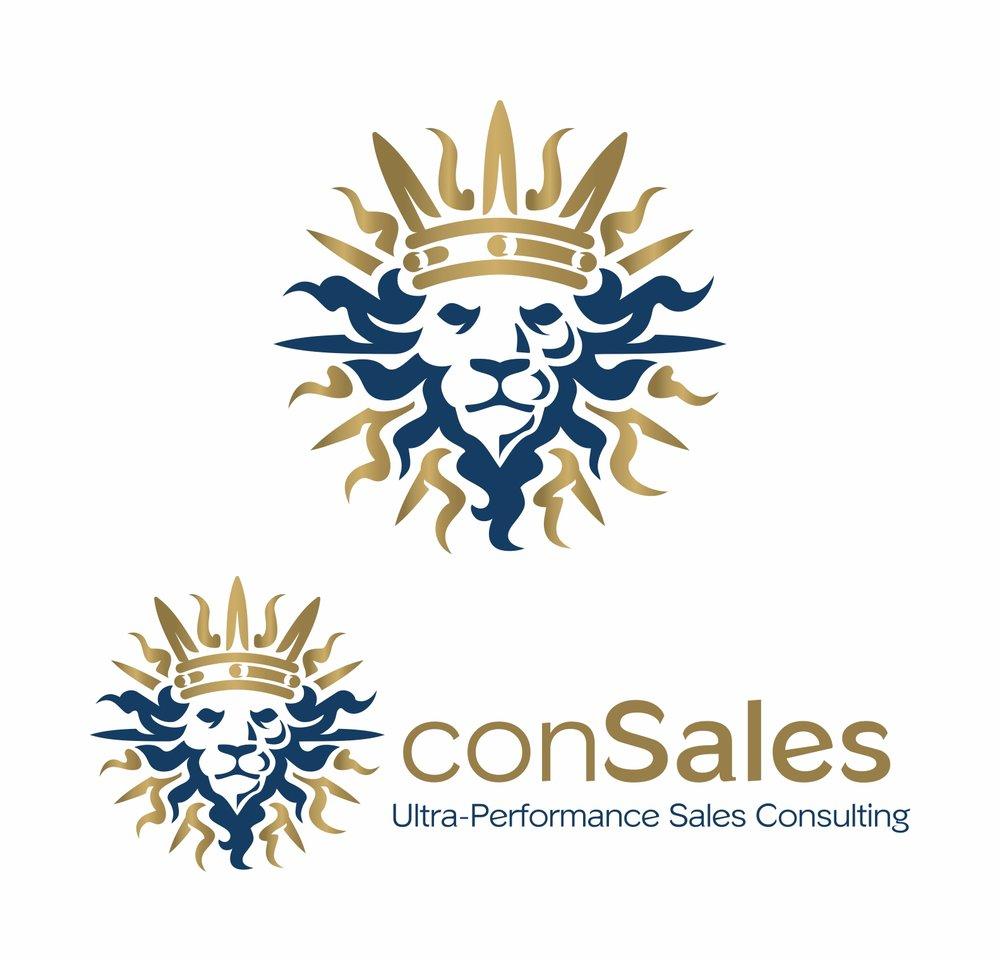 Crowned sun lion logo.   Logotip u obliku sunca s okrunjenom lavljom glavom.