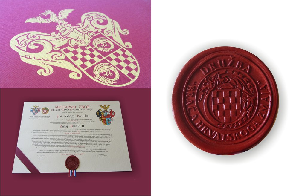 Diploma and seal design by Heraldic art d.o.o..   Dizajn diplome i pečata.