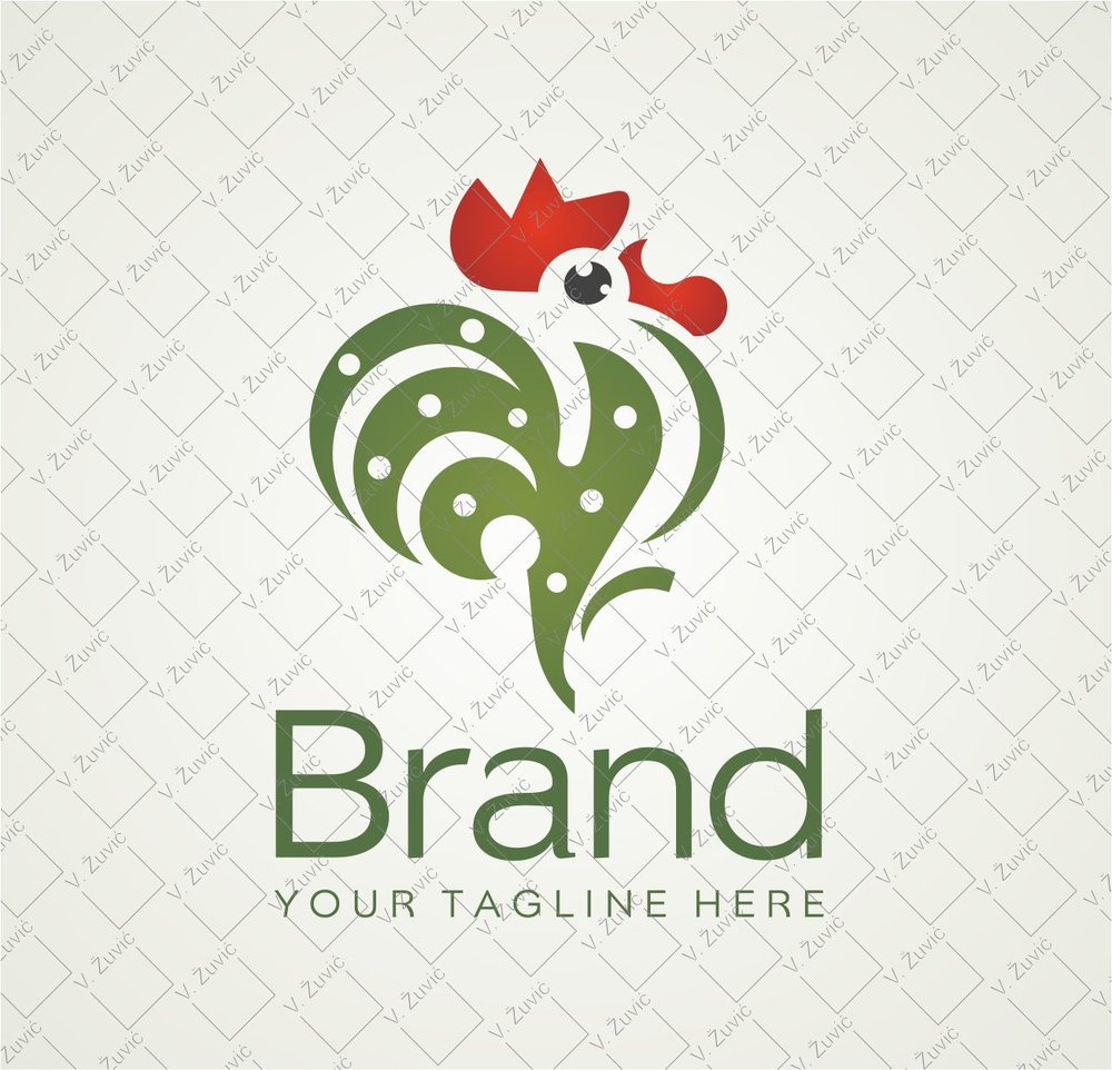 Logo is available for sale. Rooster logo design.   Logotip je dostupan za prodaju. Dizajn logotipa - pijetao.