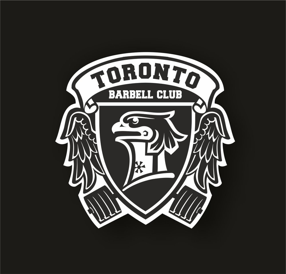 Barbell club crest logo design by Veronika Žuvić