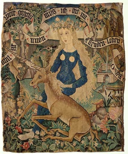 Virgin with unicorn. Source: https://en.wikipedia.org/wiki/Unicorn#/media/File:Wildweibchen_mit_Einhorn.jpg