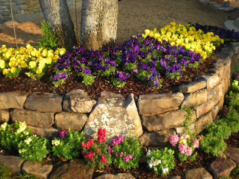 Stack Stone Flowerbed