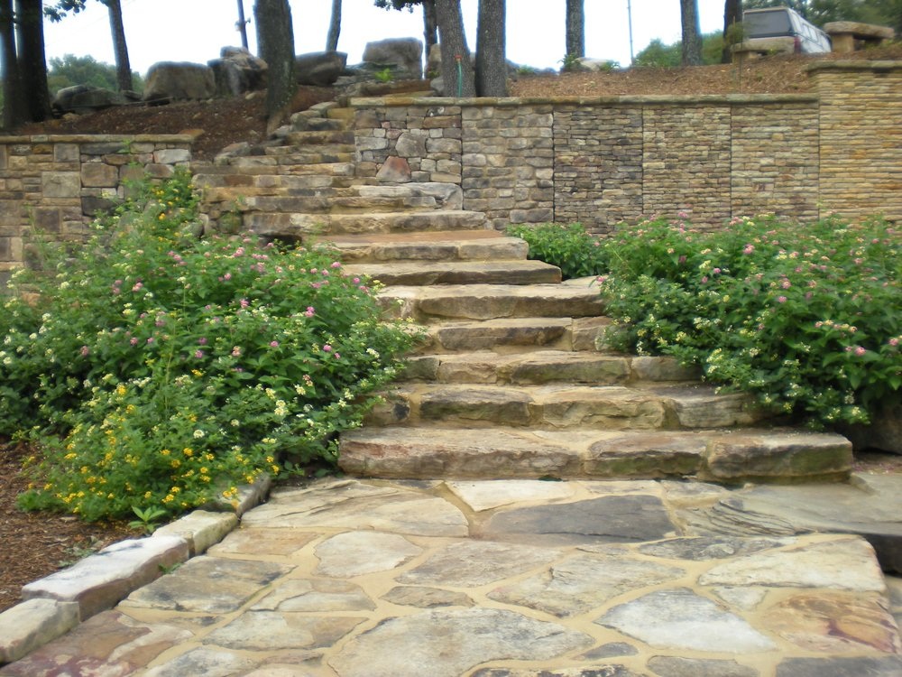 Flagstone Path to Staircase