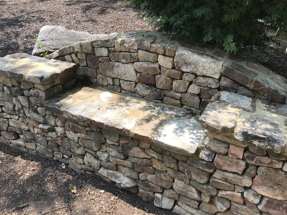 Stack Stone Bench