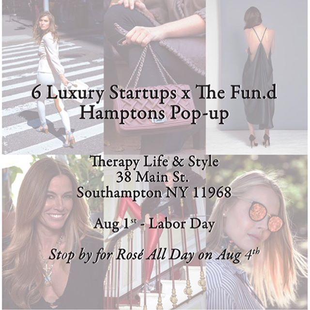 Southampton bound? We are too! ☀️ Come see select @ilfiorentinoboutique items at Therapy Life & Style TODAY until Labor Day!  #IlFiorentino #FirenzeInNYC @thefun.d  Also Save the date for #RoséAllDay on August 4! 🍷 •calendar invite in bio•