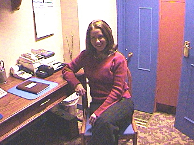 Leah in her Sore Spots Days! Our original studio was a hotel linen closet turned clinic.