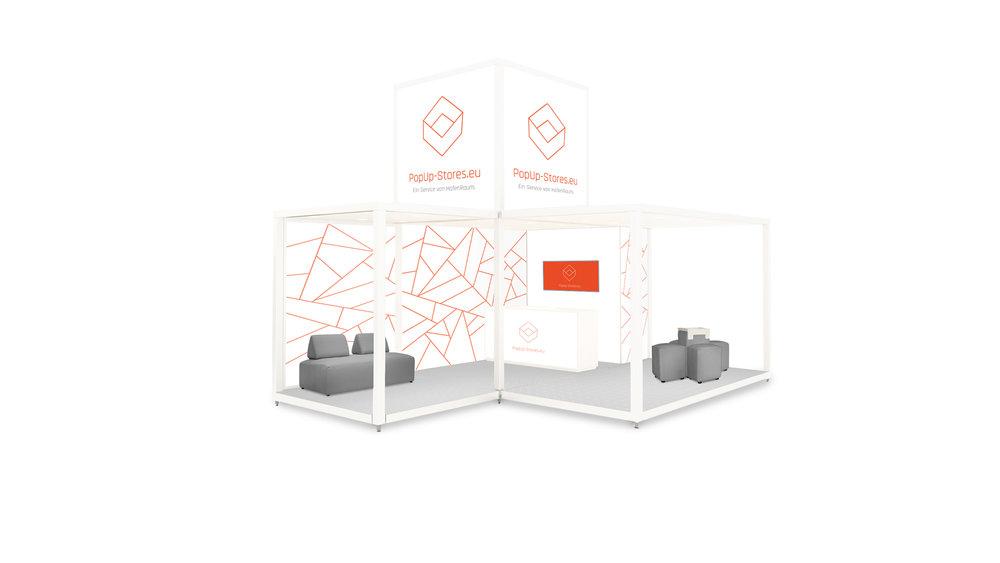 Beispiel Store Fläche   Als Miet- oder Kaufvariante, aber immer den individuellen Corporate Designs gerecht.