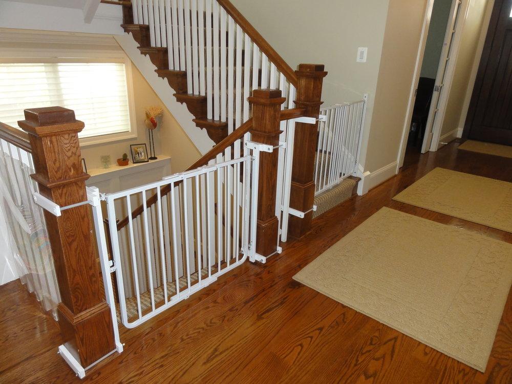 Stairway newel mounts and wall mount (1).JPG
