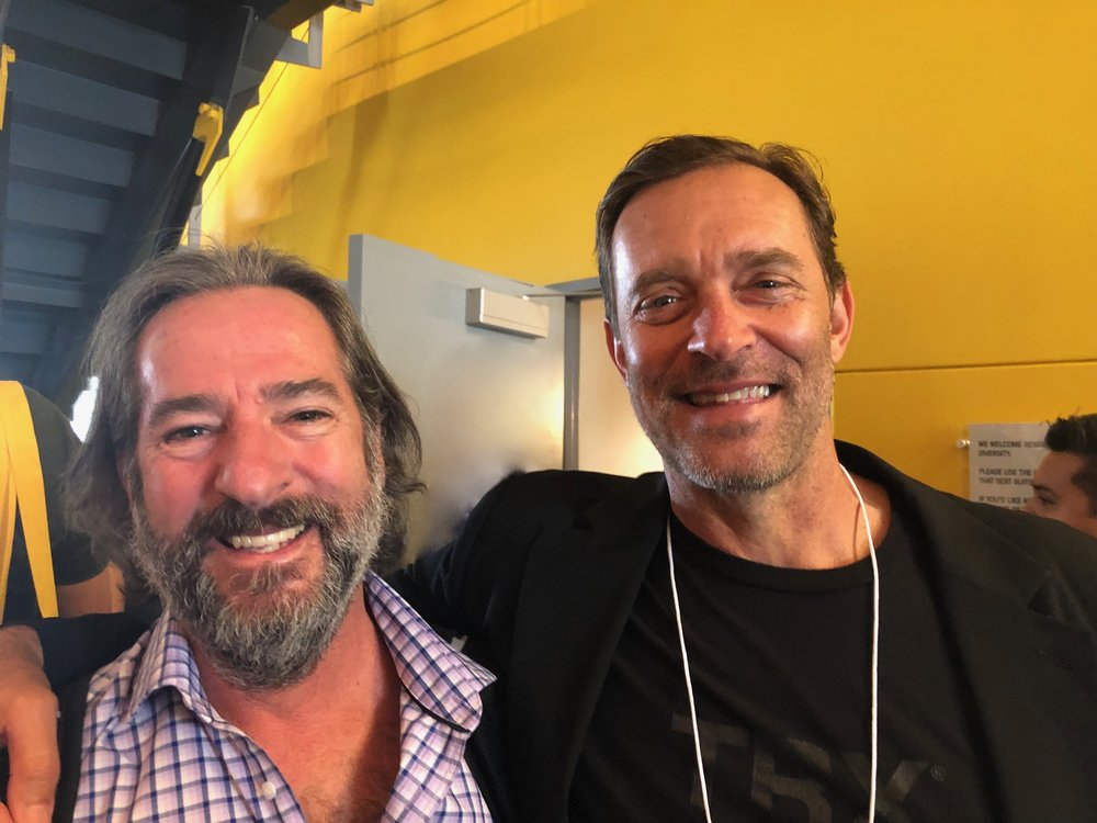 Author Todd Saxton (on left) talks about startup success with Randy Hetrick, TRX.
