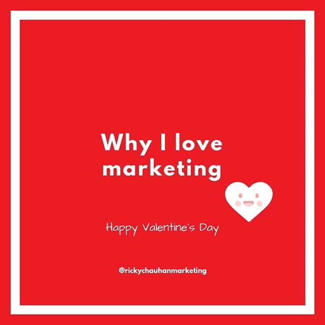 Hey folks. Happy Valentine's Day. As it's that day, I thought I'd write my first blog on why I love what I do. Love for others to share their passion for what they do too. All the best. https://rickychauhan.com/blog/why-I-love-marketing (link in bio)  #valentinesday #marketing #marketingconsultant #whyilovewhatido #lovewhatyoudo #marketingcommunications #marketingstrategy #socialmediamarketing