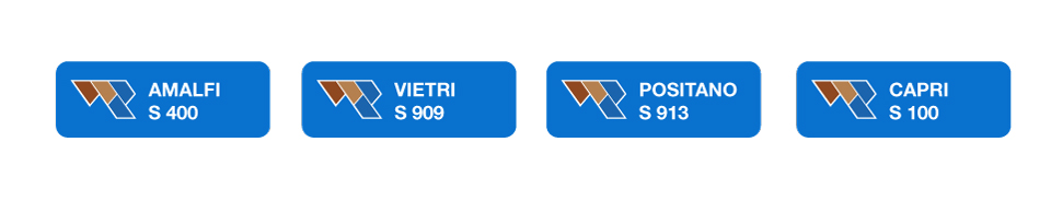 ↑  Fig.11  Adesivi identificativi per la linea prodotti.