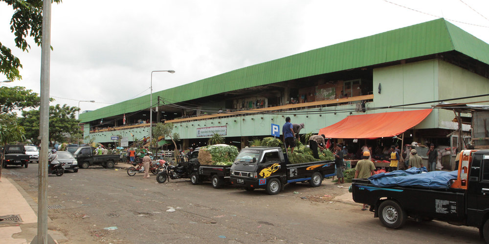 Keputran market, major regional vegetable depot
