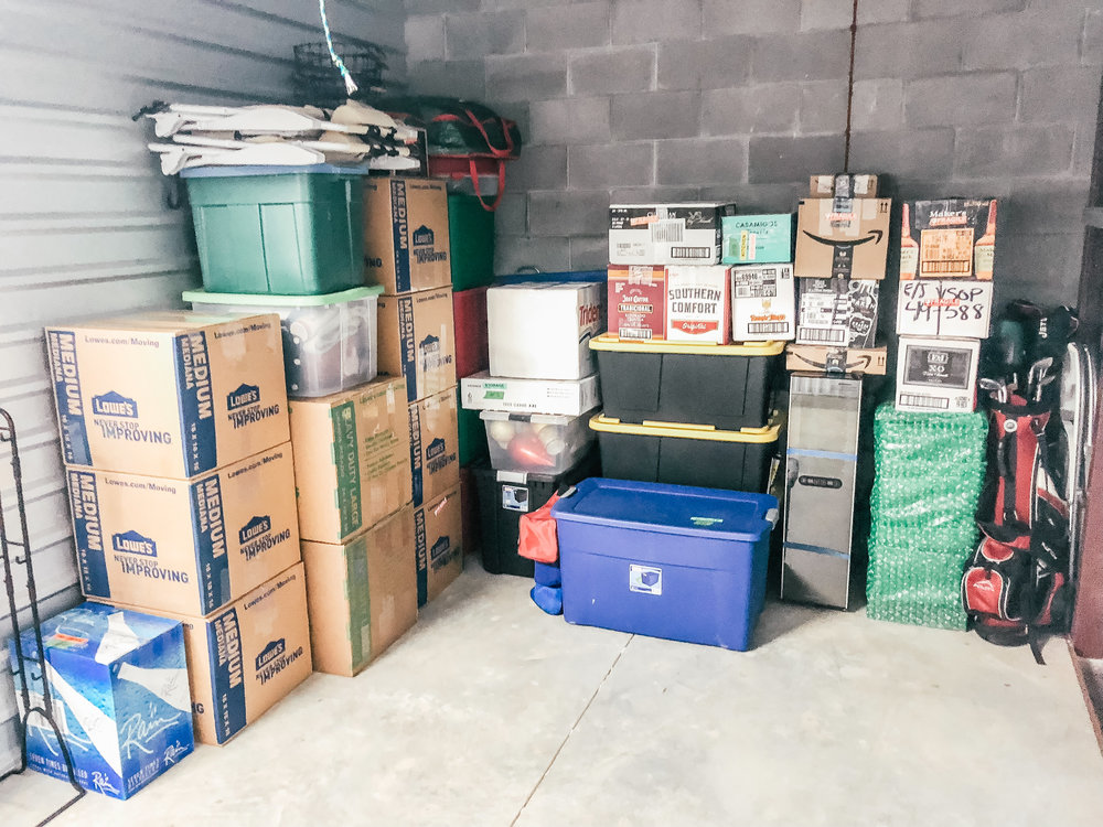 Starting to pack things up throughout the house and slowly moving everything into storage!
