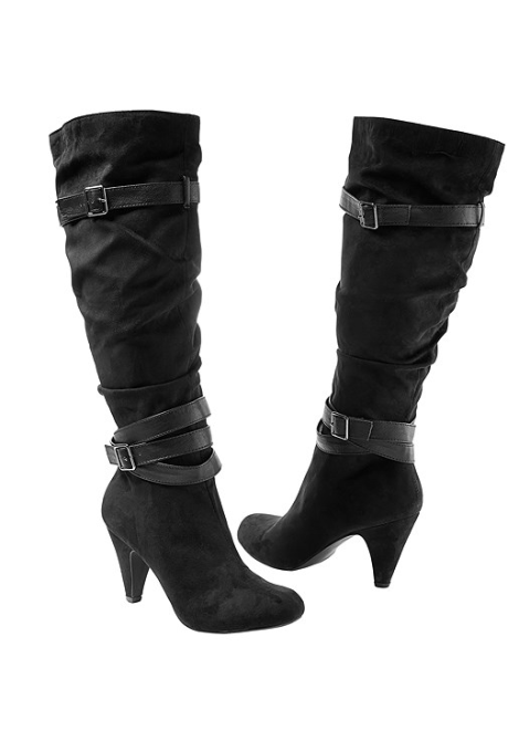 SLOUCHY LAYERED STRAP BOOT