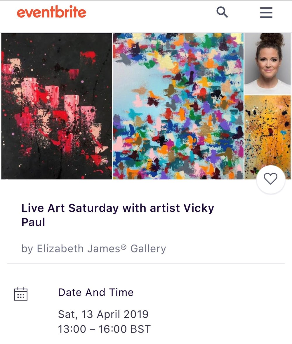 Live Art Saturday at Elizabeth James Gallery