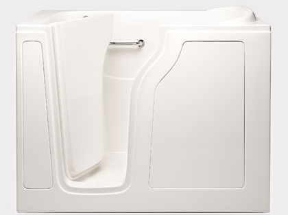 "Dimensions (L/W/H):  55"" x 35"" x 42""   Tub Extension Panel:  5"" extension panel included (to fit a 60"" space)   Seat Height:  17""  Seat Dimensions (L/W/H):  15.5"" x 30.5"" x 17""   Water Fill:  80 gallons *Right Door Available"