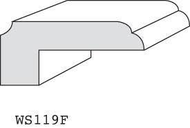 "WS119F - 3/4"" x 1-5/8"" (3/8"" offset)"
