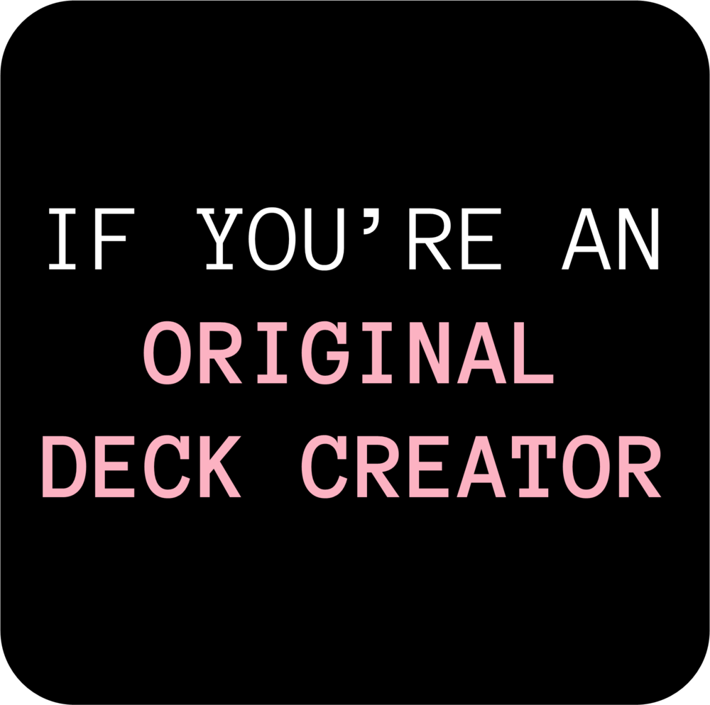 If you are a DECK CREATOR... - ⚙️...and you want to create original spreads to go with your original deck⚙️...spreads that help your deck users explore the genre and story world of your deck⚙️...spreads that guide + teach your deck users how they can best utilize your deck ⚙️...spreads that communicate your intention and your message⚙️...spreads that all-in-all enhance & add to the experience of your deckThen this add-on is for you! Embark on THE DECK CREATOR'S QUEST to unlock this add-on. 🗝️