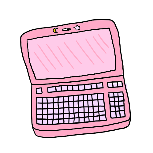 pink laotop transparent doodle image.png