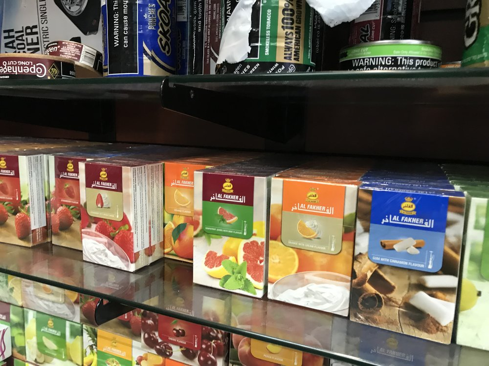 We carry Starbuzz, Fumari, and Al Fakher shisha (hookah tobacco)
