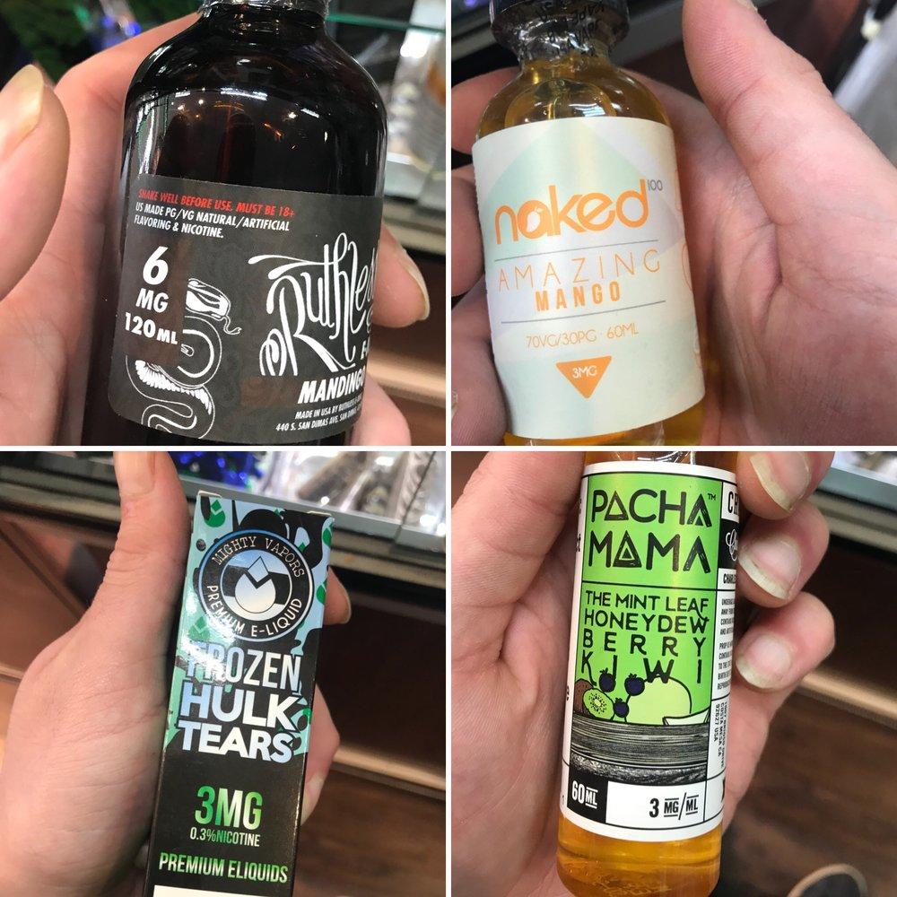 Several great brands of vape juice