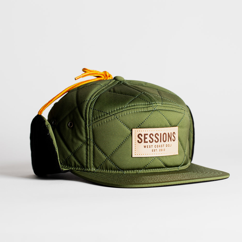 The Mammoth - Diamond Quilted Hat w  Flaps — Sessions West Coast Deli ba576e44b