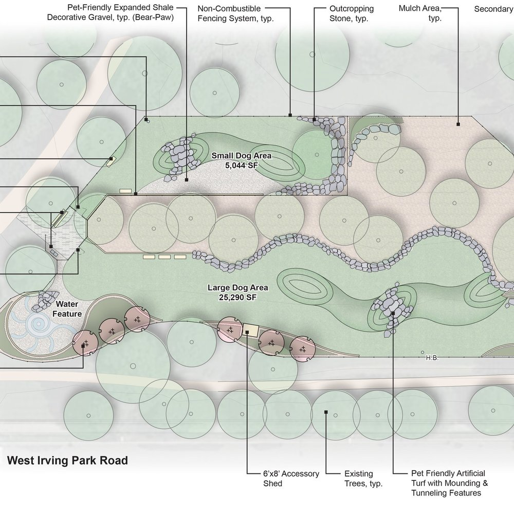 HORNER DOG PARK  Landscape Design + Build  Chicago, Illinois
