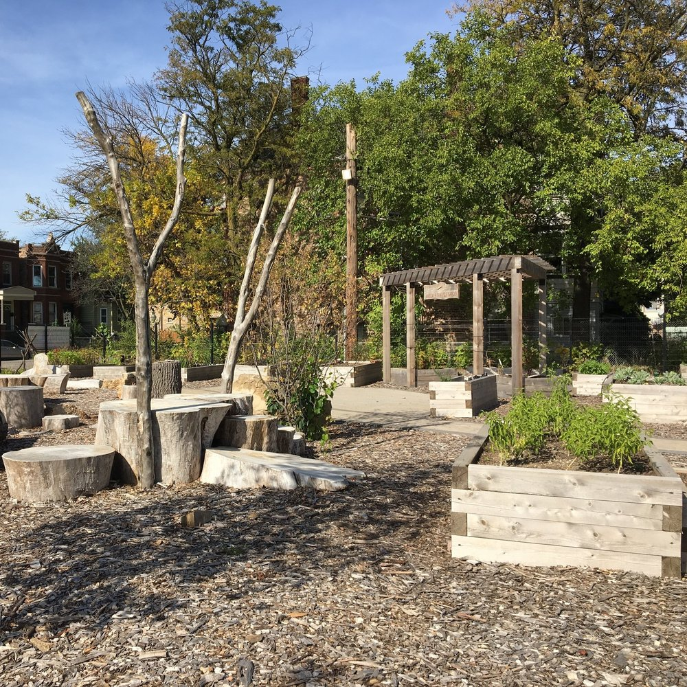 SOUTH LAWNDALE TRIANGLE GARDEN  Landscape Build   Chicago, Illinois