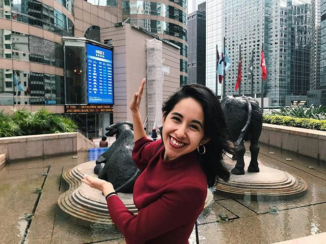 """Shooting with the bulls at the Hong Kong Stock Exchange! 🎬🇭🇰Powered by @Nasdaq technology since '0️⃣1️⃣. 💰"" - @lyannealfaro . . Shout out to all our SOLA business travelers making moves this week!!! We see you! 🙌🏻"