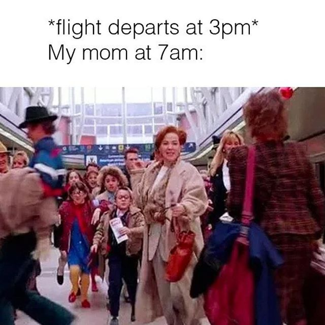 She's late to everything except the airport lol