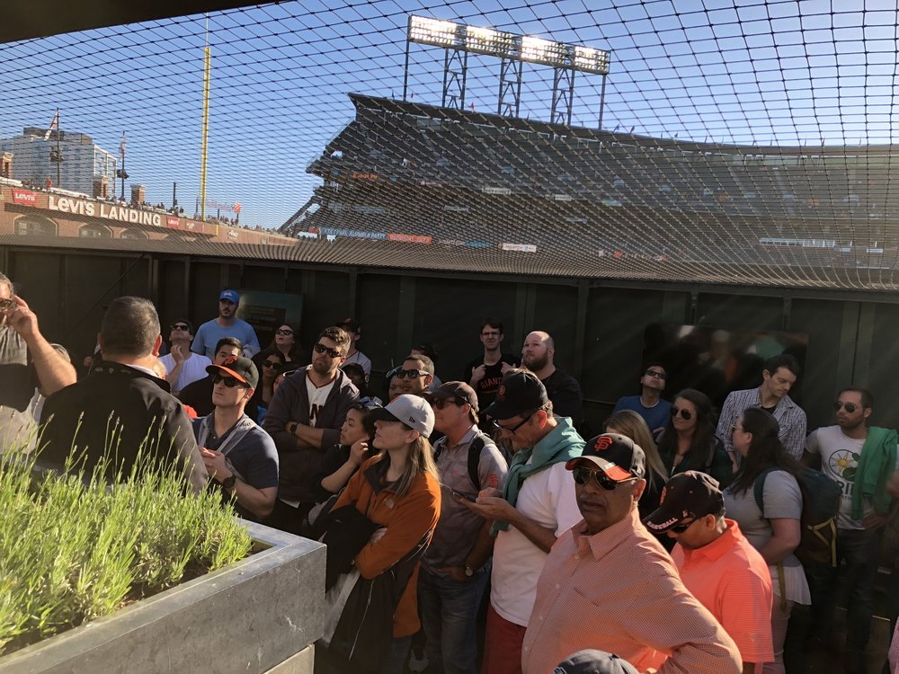 SF Giants game and sustainability tour of AT&T Park