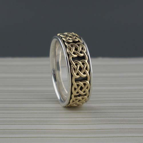Celtic Gate Knot Wedding Ring