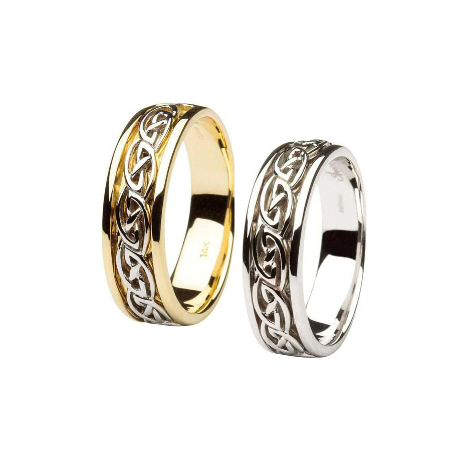 14K Celtic Knot Wedding Ring