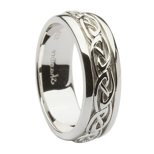 7 mm Sterling Silver Celtic Knot Wedding Ring