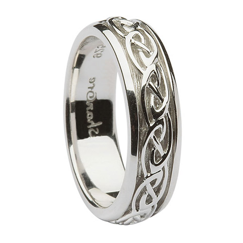 6 mm Sterling Silver Celtic Knot Wedding Ring